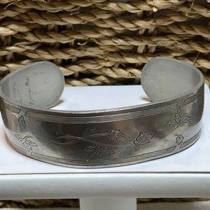 Kirk Stieff Pewter Cuff Bracelet